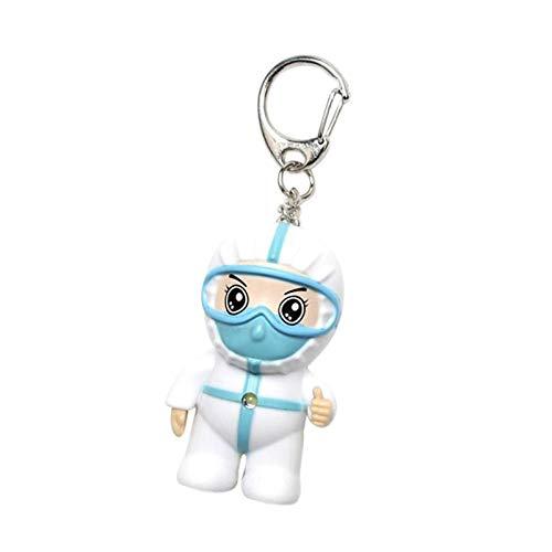Doctor Nurse Keychain, Anti Epidemic Souvenir White Angel Keyring, Cute Name Card Holder, Badge Clip, Gift