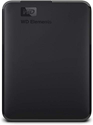Western Digital Elements - Disco duro externo portátil de 2 TB con USB 3.0, color negro