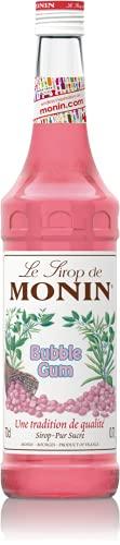 MONIN - Sirop de Bubble Gum pour Cocktail, Milkshake et Lait Aromatisé - Arômes Naturels - 70cl
