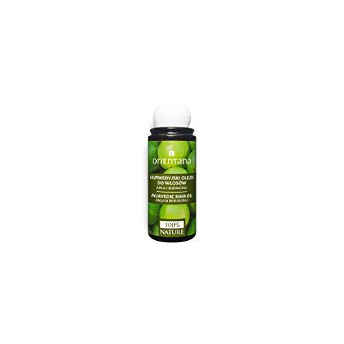 Orientana ayurvedisches Haaröl mit AMLA und BHRINGRAJ - 100% Natürliches und Veganes, aktiviert das Haarwachstum, beugt Haarausfall vor, 105 ml