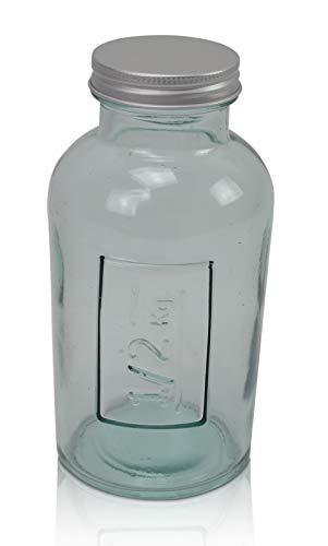 Chiccie Glazen flessen met schroefdop, 500 gram, azijnfles, olie, sapfles, likeurfles