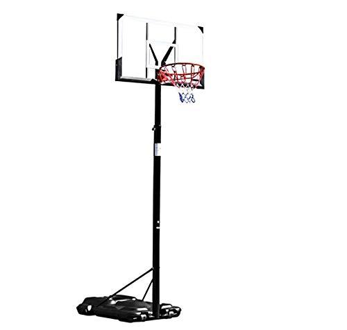 portátil Canasta Baloncesto, 1,7-3,5m Juego de Baloncesto con Soporte y 2 Ruedas Soporte de Baloncesto Altura Ajustable para niños/jóvenes/Adolescentes,W