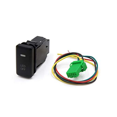 Interruptor de encendido y apagado automático de plástico negro de 5 pines LED para Toyota