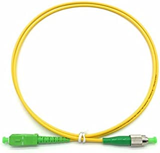 PacSatSales - Fiber Optic Patch Cable - Single Mode - SIMPLEX - OS1-9/125um (1M, FC/APC to SC/APC)
