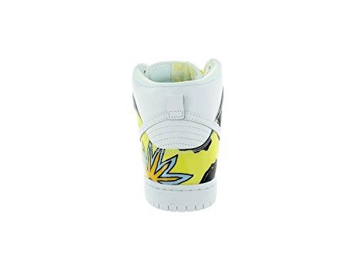 Nike Men's Dunk High PRM DLS SB QS White/Firefly Skate Shoe 9.5 Men US
