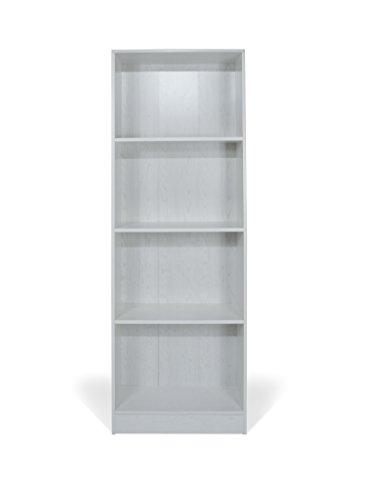 TrendyItalia 12978 Libreria Rovere Sbiancato, Legno, Bianco, 60 x 24 x 170 cm