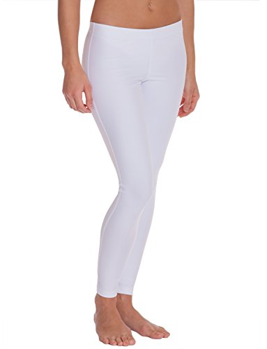 iQ-UV Damen 300 Leggins, Badehose lang Leggings, white, XXS (34)