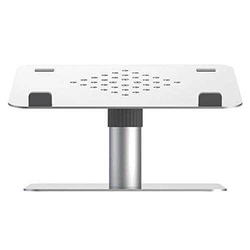 ROGF Computer stand Lifting And Rotating Cooling Computer Bracket Suitable For Laptops And Tablets For laptop (Color : Silver, Size : 21x27.5x15.5CM)