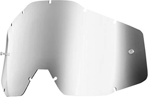 100% RACECRAFT, ACCURI, STRATA Goggle Replacement Lens - Color Silver Mirror