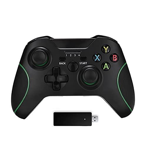 SPFSYF Controlador de Juego de Juegos inalámbrico 2.4G para Xbox One Controller para PS3 / Android Smart Phone Gamepad para Ganar PC 7/8/10 Gamepads (Color : Handle and Receiver)