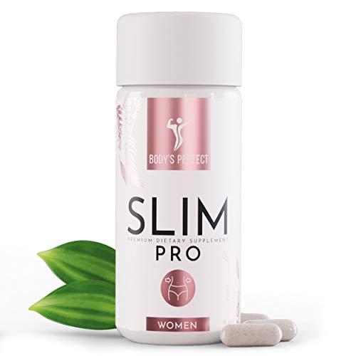 Body's Perfect - SLIM Kapseln zum Abnehmen entwickelt für Frauen, Hochdosiert mit 3.6G ETD Glucomannan, Appetitzügler für Heißhunger, 78 Kapseln