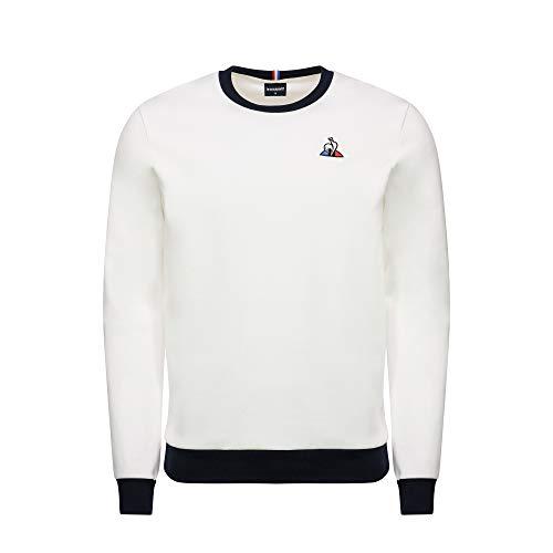 Le Coq Sportif ESS Crew Sweat Bicolore N°1 M Sudadera, Hombre, New Optical White, XS