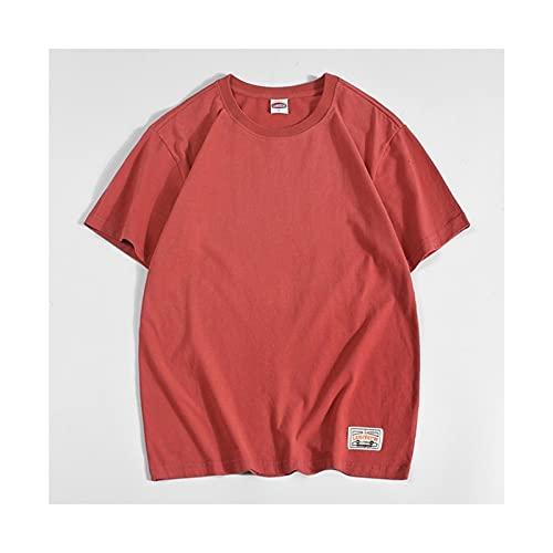 Yokbeer Camiseta para Hombre Camiseta de Manga Corta con Cuello Redondo Camiseta Holgada de Manga Corta para Hombre Camiseta Elástica Original para Hombre Camiseta de Color Puro para Hombre