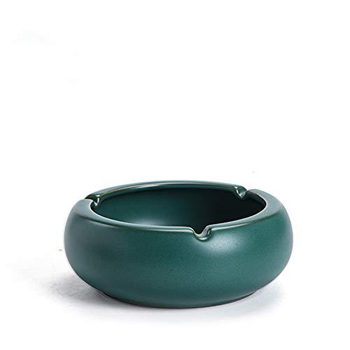 Cenicero Grande para Cigarrillos Ceniceros al Aire Libre para Patio Hermoso cenicero de cerámica de Humo de Mesa para decoración del hogar