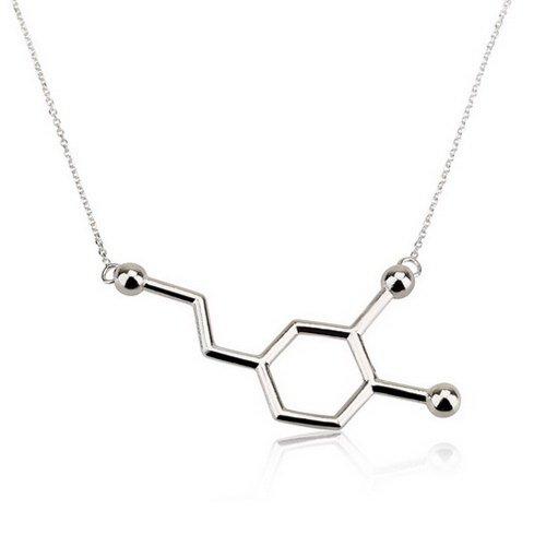 Dopamin Molekül Kette-925er Silber (35 CM)