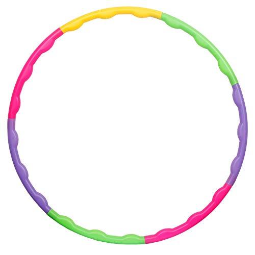 Hula Hoop Juguete para niños, desmontable y plástico pequeño Hula Hoop para gimnasia de 65 cm