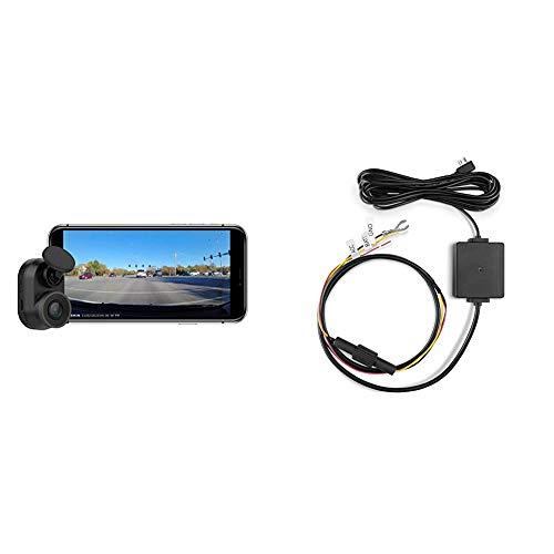 Garmin Dash Cam Mini, Car Key-Sized Dash Cam, 140-Degree Wide-Angle Lens, Captures 1080P HD Footage & 010-12530-03 Parking Mode Cable, 6.60' x 2.70' x 2.00', Black