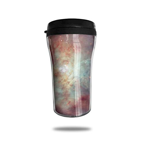 OUYouDeFangA Orion Nebula Universe Taza de cafe de Viaje con impresion 3D portatil al vacio, Taza de te aislada, Vasos de Agua para Beber con Tapa, 8.54 onzas (250 ml)