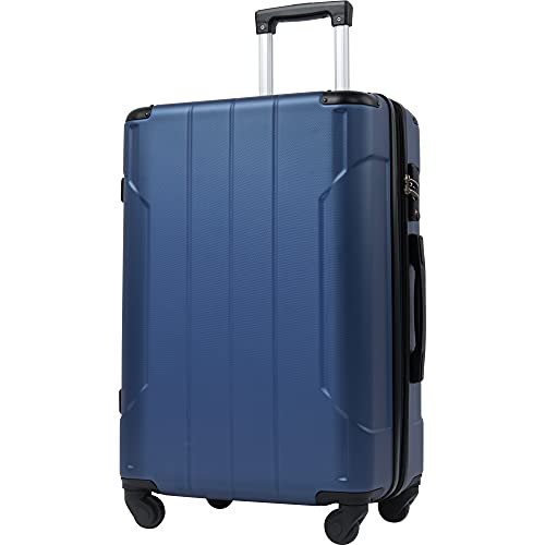 Merax Expandable Hardside Spinner Luggage with Built-in TSA and Reinforced Corners, Lightweight Carry-On 20' 24' 28' Suitcases (24 inch, Blue)