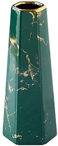 Vase Comptoir Verte Finition en Or Marbre à la Maison Décor et Table Centres de Table pour Amis et Famille XMJ
