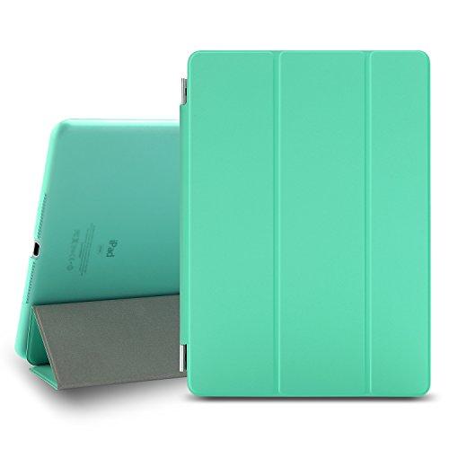 Besdata iPad Air 2 Hülle, Ultra Dünn Smart Cover Leder Hülle Schutz Hülle für ipad air 2 ipad 6 - inkl. Bildschirmschutzfolie Reinigungstuch Touchstift