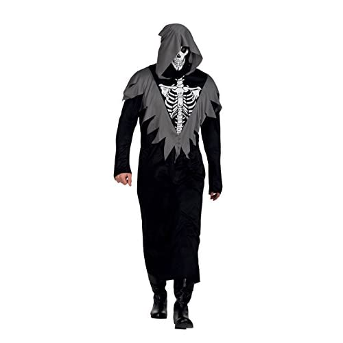 Boland- Costume Scheletro Dungeon Guard per Adulti, Nero, Taglia 54/56, 79027