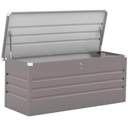 BillyOh Boxer Metal Storage Box | Garden Storage Box with Lid | Lockable Storage Unit- Grey (5x2)