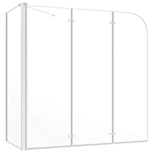 vidaXL Mampara de Ducha de Templado Transparente Baño Paneles Plegables Cristal Accesorios...