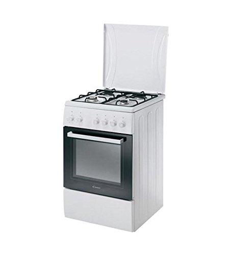Candy CCG5100SW / 1 Cucina a gas con piano cottura a 4 fuochi, forno a gas. Dimensione 50x60 cm. Colore Bianco
