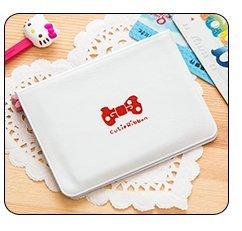 【12枚収納】カードケース レディース 薄型 かわいいボウタイ 磁気防止 カードホルダー カラー選択可能【ATTYOUオンラインオリジナル商品】 (ホワイト)