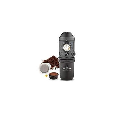 Handpresso Auto 48261 12V portable espresso maker for cars using ESE pods or ground coffee