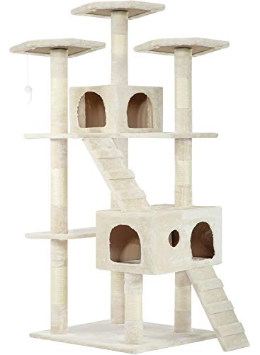 Cat Tree Cat Tower Cat Condo 72 inches Tall Multi-Level Playpen House Kitty Activity Tree Center with Funny Toys