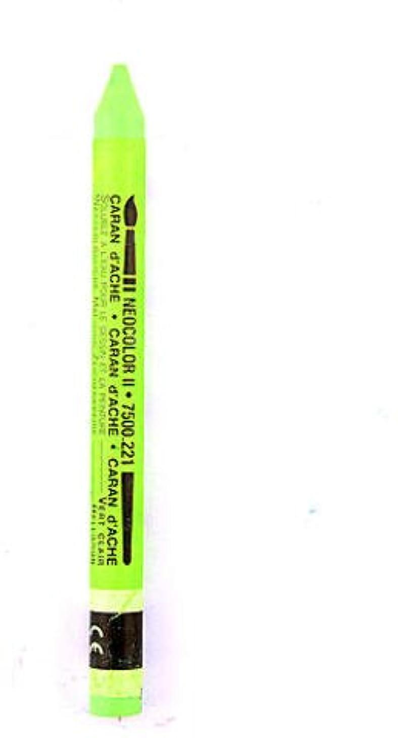 提供する眠っている固執Caran d'Ache Neocolor II 水溶性ワックスパステル (ライトグリーン) 4個 sku# 1824119MA