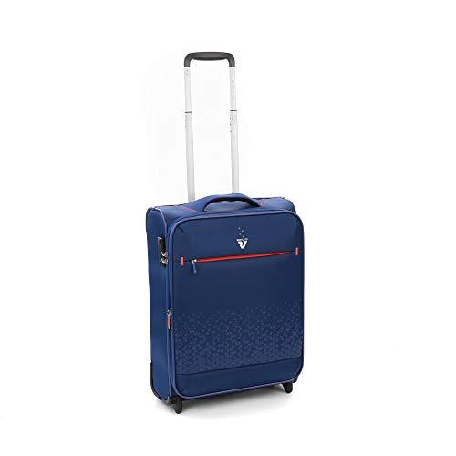 Roncato Crosslite Maleta Cabina avión Expansible Azul, Medida: 55 x 40 x 20/23 cm, Capacidad: 42/48 l, Pesas: 2.00 kg, Maleta Cabina avión ryanair