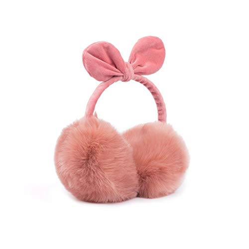 ZJ Warm halten Earmuffs Warm Earmuffs Earmuffs Mann-Winter Earmuffs Frauen im Freien Earmuffs Warm warm (Color : Dark pink)
