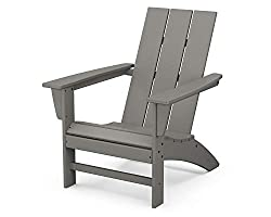 POLYWOOD AD420GY Modern Adirondack Chair Outdoor Furniture