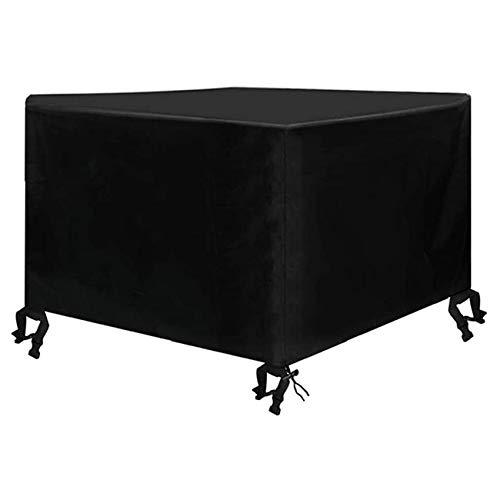 Funda para Muebles De JardíN Tela Funda para Mesa 420D Oxford Revestimiento De PU Cubierta De Exterior Funda Protectorar Impermeable Anti-UV A Prueba De Viento(308 X 138 X 98 Cm)