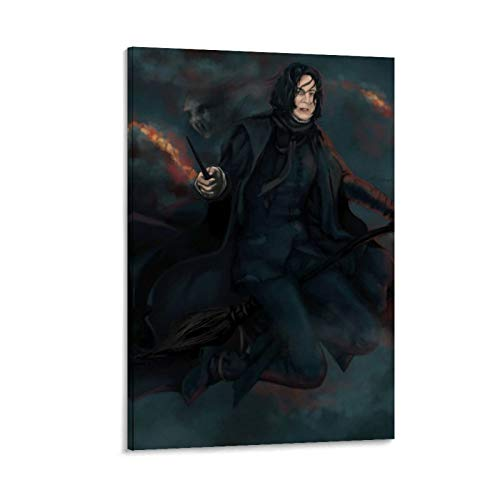 DRAGON VINES Harry Potter Hogwarts School of Witchcraft and Wizardry Severus Snape Magic Broom - Póster personalizado para pared (50 x 75 cm)