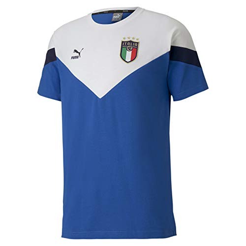 PUMA Italia FIGC T-Shirt Iconic Azzurra-Bianco 2020-21 (S)