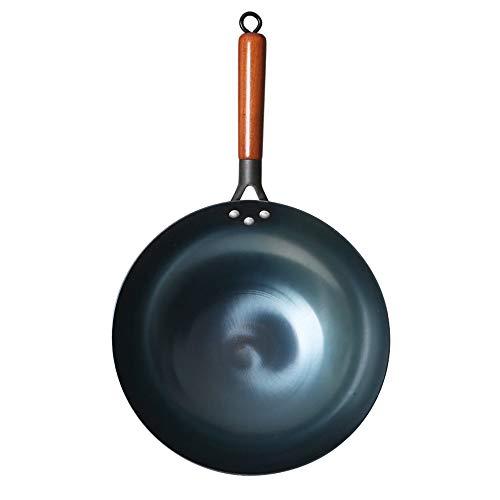 Cooking Tools Kochtopf Eisen Wok Traditionelle handgemachte Eisen Wok Antihaftpfanne Antihaftbeschichtung Induktions- und Gaskocher Kochgeschirr