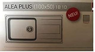 Succsale - Edelstahlspüle-Einbauspüle -Beckenabmessungen: 1000x500mm-ALEA-PLUS PYRAMIS-Unterschränke ab 60cm mt Sifon - 107165312