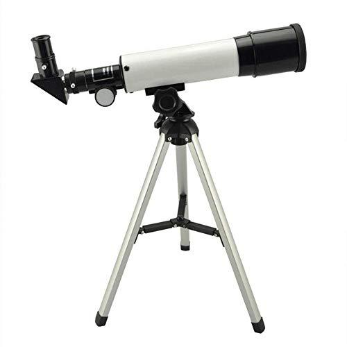 ZHTT Telescopio astronómico de refracción 360X50 con trípode portátil Telescopio monocular de Cielo Telescopio de observación Espacial Telescopio de Regalo para niños Adultos