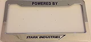 Strawbaru Powered By Stark Industries - Automotive Chrome License Plate Frame -