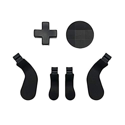 E-WOR Modded Metal Ersatz 4 Paddel und 2 D'Pads Kit für Xbox One Elite Controller Serie 2 (schwarz)