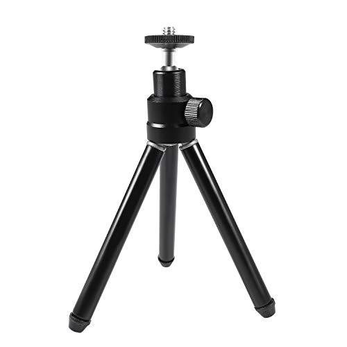 """Leichtes Mini-Stativ, Papalook Tragbarer und Verstellbarer Aluminium-Stativständer für die Kameramontage mit 360-Grad-Panorama und 1/4"""" Befestigungsschraube für Webcam"""