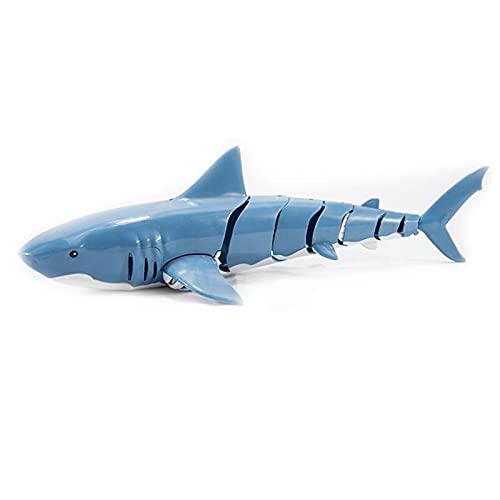 WSZMD Barco De Control Remoto, Bote De Tiburones De Control De 2.4GHzRemote, Adecuado para Piscinas Y Lagos, Adecuado para Adultos Y Niños, Megalodon-Battery*1