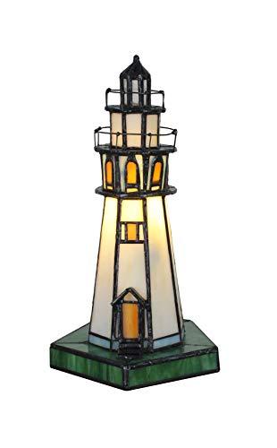 Faro de cristal templado hecho a mano para iluminación nocturna, lámpara de mesa, lámpara de noche