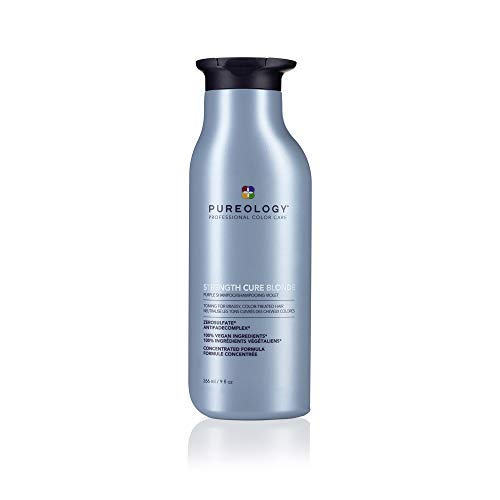 Price comparison product image Pureology Strength Cure Blonde Purple Shampoo / For Blonde & Lightened Color-Treated / Tones & Fortifies Brassy Hair / Sulfate-Free / Vegan / Updated Packaging / 9 Fl. Oz.