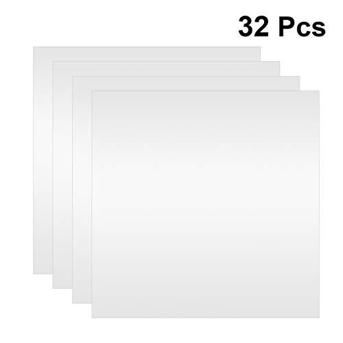 Supvox Láminas de Espejo de 32 Piezas con Espejo Autoadhesivo Espejo de Vidrio Baldosas de Espejo de Plástico Hoja de Espejo Cortable para El Hogar 6X6 Pulgadas