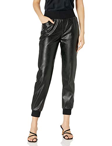 KENDALL + KYLIE Women's Vegan Leather Jogger